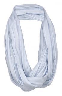 TigerTie Loop Schal in blau hellblau einfarbig Uni - Schlauchschal Rundschal