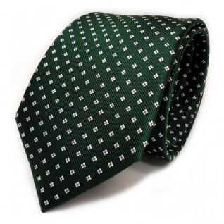 TigerTie Designer Seidenkrawatte grün dunkelgrün weiss gepunktet