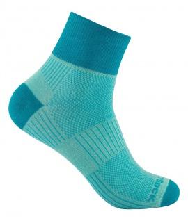 WRIGHTSOCK Profi Sportsocke Coolmesh II mint-türkis - anti-blasen - Socken Gr.M