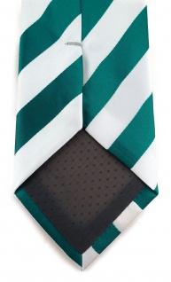 TigerTie Designer Krawatte in petrol weiss gestreift - Vorschau 4