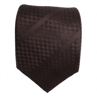 TigerTie Designer Seidenkrawatte braun dunkelbraun gestreift - Krawatte Seide - Vorschau 2