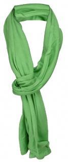 TigerTie Schal in grün grasgrün uni einfarbig - Schalgröße 180 x 40 cm