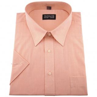 TRAVELMASTER Business Herrenhemd lachs - Hemd Gr.41/42 L kurzarm