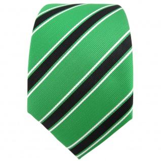 TigerTie Designer Krawatte grün knallgrün schwarz weiß gestreift - Binder Tie - Vorschau 2