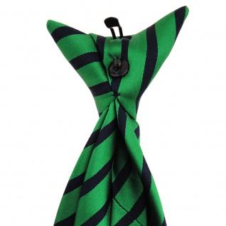 TigerTie - Service o. Security Clip Seidenkrawatte smaragdgrün schwarz gestreift - Vorschau 3