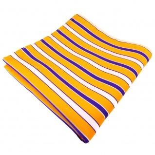 Einstecktuch gelborange leuchthellorange gestreift - Tuch 100% Polyester