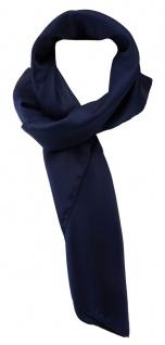 30617cf79af887 TigerTie Damen Chiffon Halstuch blau dunkelblau Uni Gr. 80 cm x 80 cm -  Schal