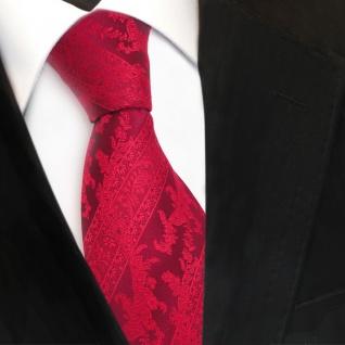Designer Seidenkrawatte rot knallrot verkehrsrot gestreift - Krawatte Seide Silk