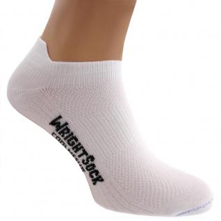 Profi Sportsocke Sneakers Low Tab Gr. L - anti-blasen weiss Socken WRIGHTSOCK