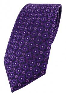 TigerTie Designer Krawatte in dunkelviolett rosa silber schwarz gemustert