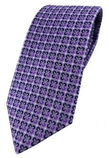 TigerTie Designer Krawatte in lila silber schwarz gemustert