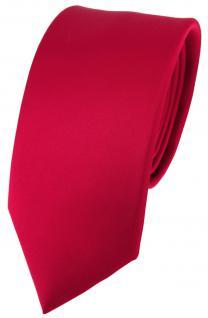 schmale feine TigerTie Seidenkrawatte in Satin rot - Krawatte 100% reine Seide - Vorschau 1