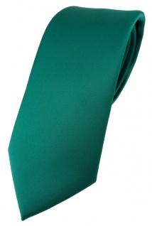 TigerTie Designer Krawatte in petrolgrün einfarbig Uni - Tie Schlips