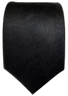 TigerTie Designer Seidenkrawatte schwarz Paisley - Krawatte Seide Silk - Vorschau 2