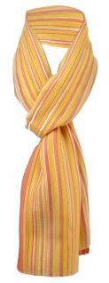Feiner Chiffon Schal in orange lachs gelb weiß gestreift - Gr. 170 x 40 cm