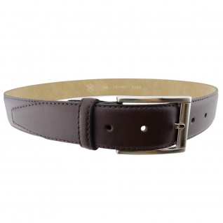 Hochwertiger Herren Ledergürtel braun bombiert - Leder Gürtel Bundweite 115 cm
