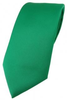 TigerTie Designer Krawatte in grün einfarbig Uni - Tie Schlips