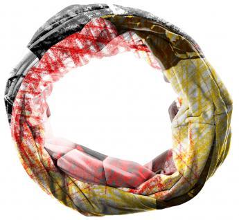 TigerTie Loop Schal in rot gelb grau schwarz gemustert - Gr.160 cm x 50 cm - Vorschau 2