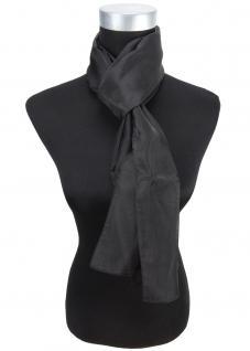 Sehr feiner Chiffon Schal in schwarz Uni - Gr. 160 x 30 cm - Halstuch