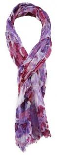 TigerTie Chiffon Schal in rosa lila bordeaux grau gemustert - Gr. 180 x 50 cm