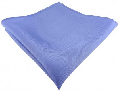 Einstecktuch handrolliert blau einfarbig Uni - 100% Seide - Gr. 30 x 30 cm
