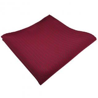 TigerTie Einstecktuch rot dunkelrot schwarz gestreift gestreift - Tuch Polyester