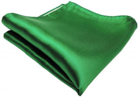 schönes gewebtes TigerTie Designer Satin Seideneinstecktuch grün Uni einfarbig
