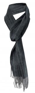 Feiner TigerTie Designer Schal anthrazit schwarz grau gestreift - Cashmink Schal
