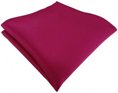 TigerTie Satin Einstecktuch in pink einfarbig Uni - Größe 26 x 26 cm