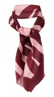 feines Damen Halstuch in rosa violett gemustert - Tuch 66 cm x 66 cm