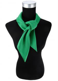 TigerTie Damen Chiffon Halstuch grün leuchtgrün Uni Gr. 80 cm x 80 cm - Schal