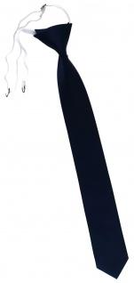 XXL TigerTie Security Sicherheits Krawatte blau dunkelblau marine einfarbig Uni