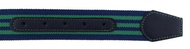 TigerTie - Stretchgürtel grün blau dunkelblau gestreift - Bundweite 100 cm - Vorschau 5