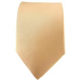 TigerTie Satin Seidenkrawatte in beige gold bronze Uni - Krawatte 100% Seide - Vorschau 2