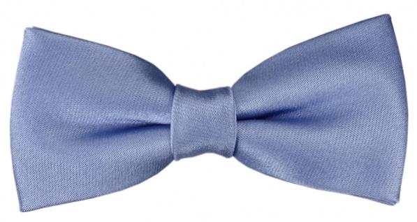TigerTie Kleinkinder Baby Seidenfliege hellblau mit Gummizug - Fliege 100% Seide