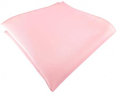 TigerTie Satin Einstecktuch in rosa einfarbig Uni - Größe 26 x 26 cm
