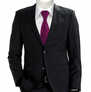 TigerTie Designer Krawatte in magenta beere lila schwarz Paisley gemustert - Vorschau 5