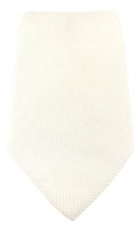 TigerTie Designer Krawatte Pique in creme gemustert - 100% Baumwolle - Vorschau 2