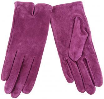 Damen Lederhandschuhe - hochwertiges weiches Schafsleder in violett - Gr. 7 - Vorschau 1
