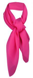 TigerTie Damen Chiffon Halstuch pink Uni Gr. 90 cm x 90 cm - Schal