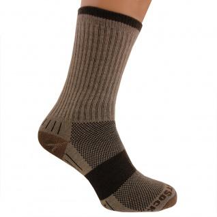 WRIGHTSOCK Laufsocke, Wandersocke -anti-blasen-system- lange braune Socken Gr. L