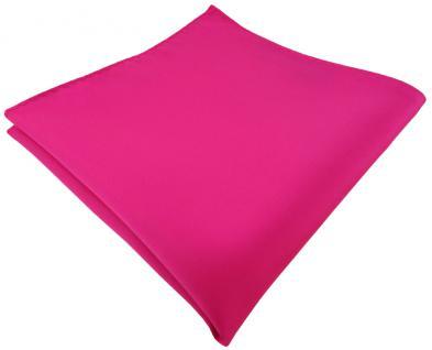 TigerTie Einstecktuch in pink rosa einfarbig Uni - Gr. 30 x 30 cm - Vorschau