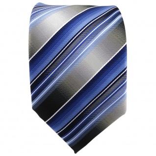TigerTie Krawatte blau hellblau silber anthrazit grau gestreift - Tie Binder - Vorschau 2