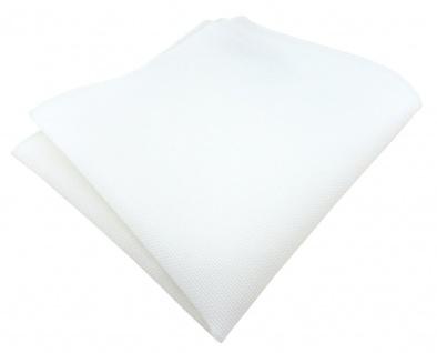 TigerTie Einstecktuch aus 100% Baumwolle in weiß Uni - Einstecktuch 26 x 26 cm