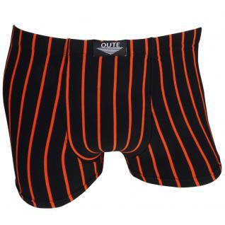 Boxershorts Unterhose Pants Retro Shorts schwarz-orange Baumwolle Gr. M