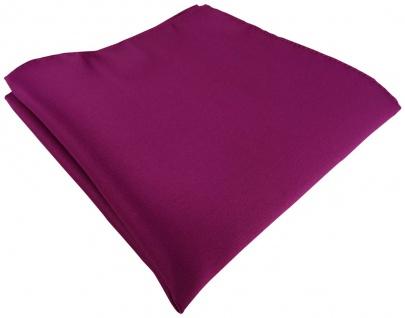 TigerTie Satin Einstecktuch in magenta einfarbig Uni - Größe 26 x 26 cm