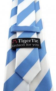 TigerTie Designer Krawatte in blau weiss gestreift - Vorschau 3