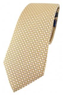 Enrico Sarto hochwertige Designer Seidenkrawatte in gold silber blau karomuster