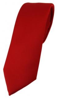 schmale TigerTie Designer Krawatte in verkehrsrot einfarbig Uni - Tie Schlips