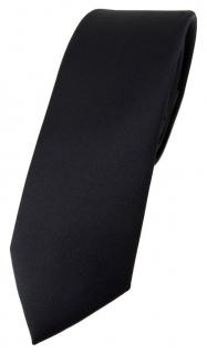 schmale TigerTie Designer Krawatte in schwarz einfarbig Uni - Tie Schlips